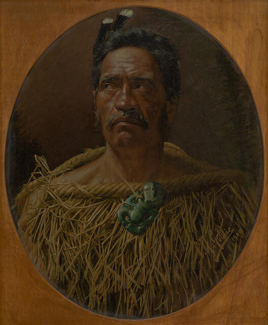Study from Life or One of the Old School, Wiremu Watene Tautari (Ngāti Whātua)