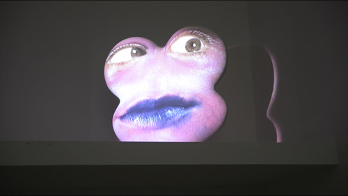 Tony Oursler Sang 2008. Fibreglass and gesso, audio/video projection. Courtesy of the artist, Jensen Gallery and Fox/Jensen, Auckland.