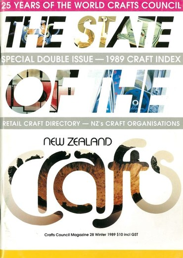 New Zealand Crafts issue 28, Winter 1989