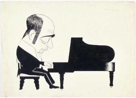 Leo Bensemann Mischa Levitzki undated. Ink. Collection of Christchurch Art Gallery Te Puna o Waiwhetū, presented to the Gallery by Mary Bensemann 1995