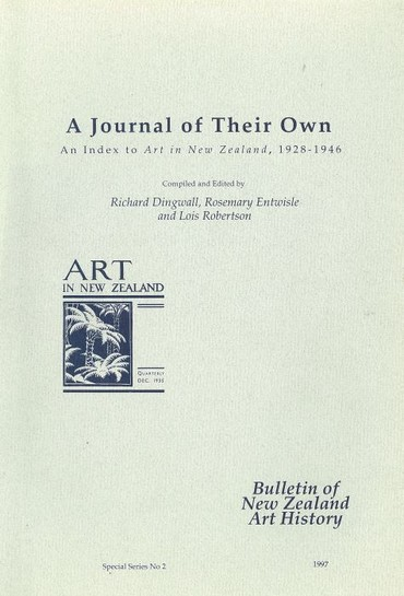 A Journal of their own: an index to Art in New Zealand