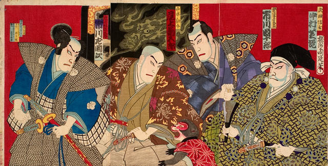Our country's 24 examples of filial piety (a kabuki drama scene)