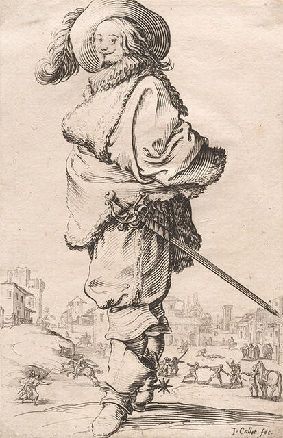Le Gentilhomme au Plastron de Fourrure (The Gentleman with a Fur Shirtfront), from La Noblesse de Lorraine (The Nobility of Lorraine)