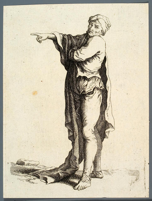 Figure With A Cloak