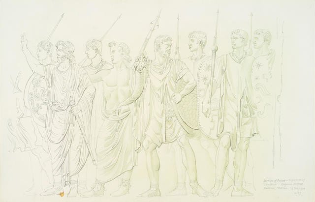 Section Of Frieze, Departure Of Domitian, Gregorian Profane Museum, Vatican 13 Feb 1974