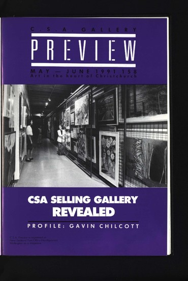 Canterbury Society of Arts Preview, number 158, May/June 1991
