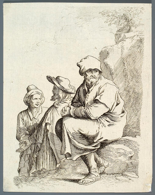 Seated Man With Cap