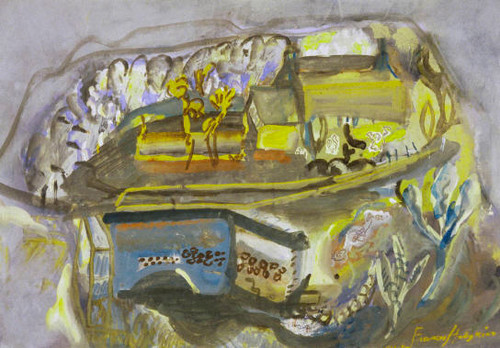 Frances Hodgkins To The Castle, Corfe Collection of Christchurch Art Gallery Te Puna o Waiwhetū; purchased 1980.