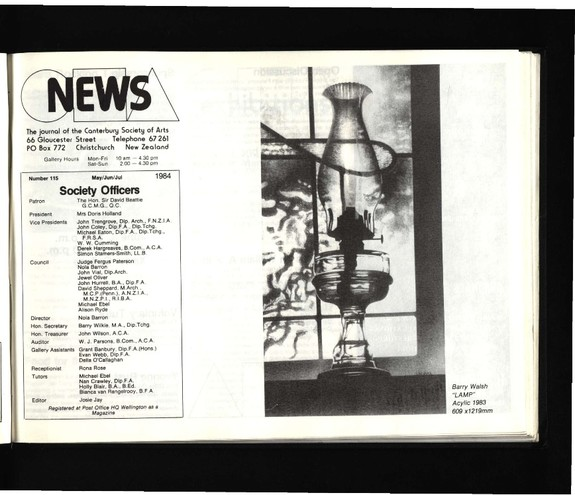 Canterbury Society of Arts News, number 115, May/June/July 1984