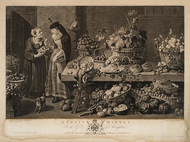 A Fruit Market (In The Gallery At Houghton)