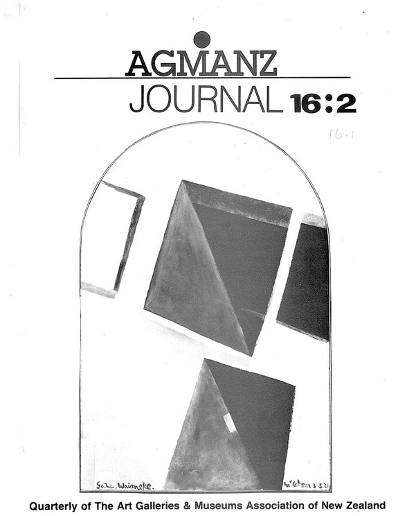 AGMANZ Journal Volume 16 Number 1 March 1985