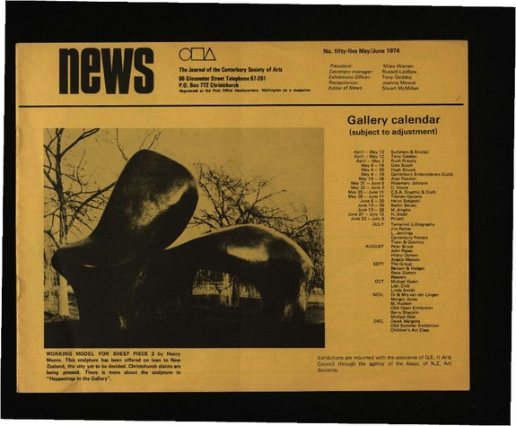 Canterbury Society of Arts News, number 55, May/June 1974