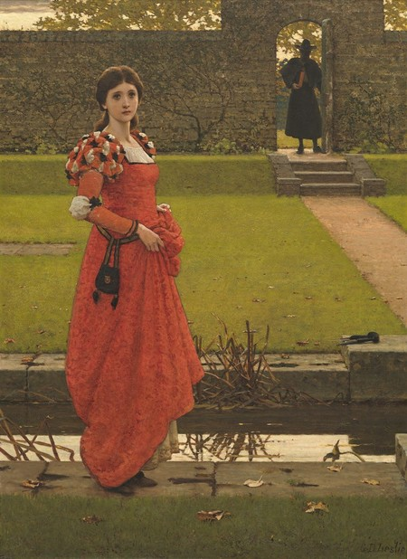 George Dunlop Leslie In the Wizard's Garden c.1904. Oil on canvas. Collection of Christchurch Art Gallery Te Puna o Waiwhetū, presented to the Canterbury Society of Arts by W. Harris, 1907; given to the Gallery in 1932