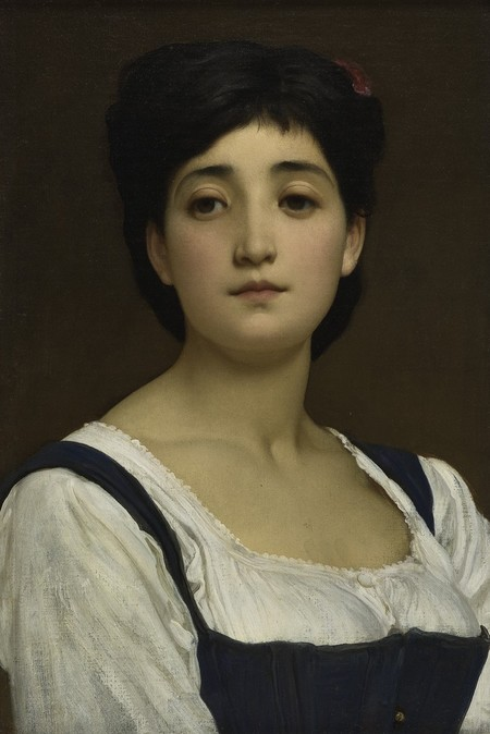 Frederic Leighton Teresina 1874. Oil on canvas board. Collection of Christchurch Art Gallery Te Puna o Waiwhetū, presented by the Canterbury Society of Arts 1932