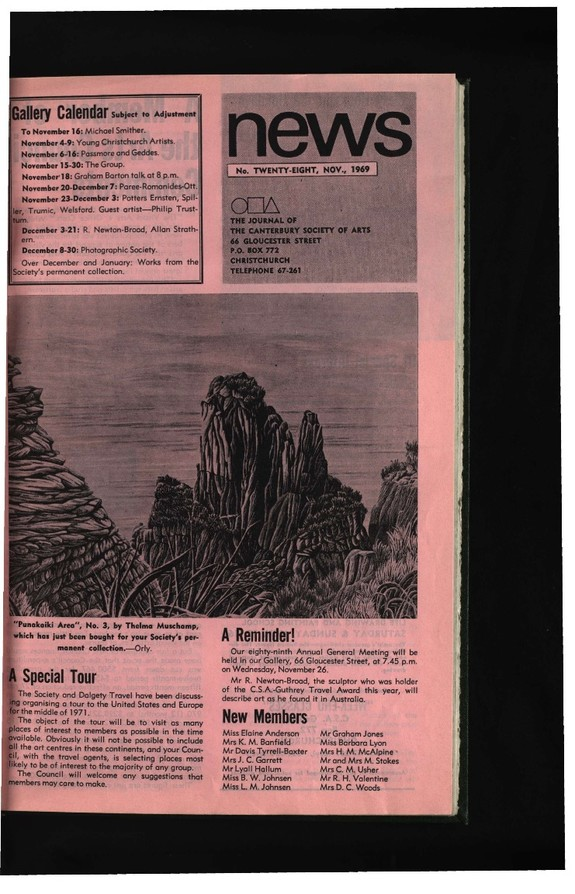 Canterbury Society of Arts News, number 28, November 1969