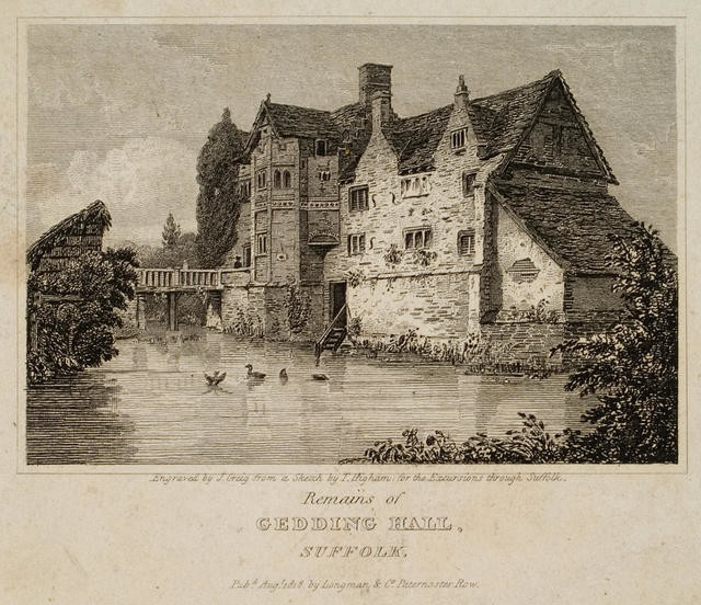 Remains of Gedding Hall, Suffolk