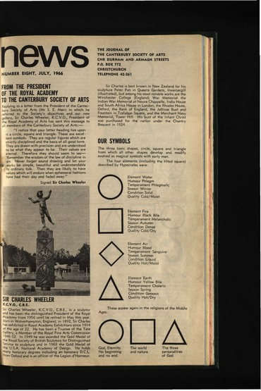 Canterbury Society of Arts News, number 8, July 1966