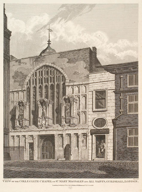 View Of The Collegiate Chapel Of St Mary Magdalen And All Saints Guildhall, London