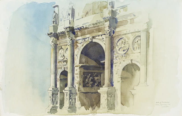Arch of Constantine, Rome 18 January 1974