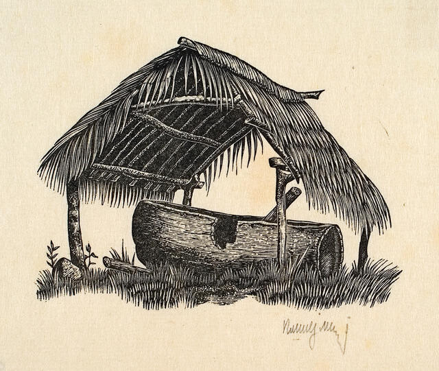 Untitled (Thatched Shelter)