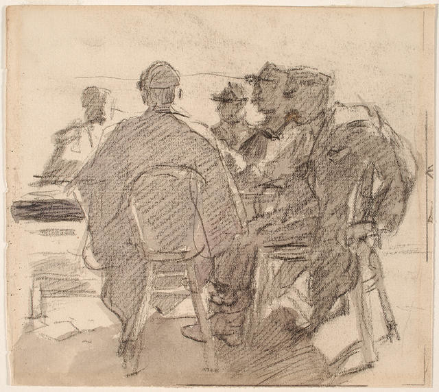 Group Study Of Figures At A Table