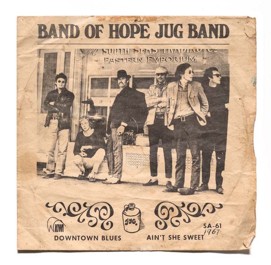 Cover of Band of Hope Jug Band's 'Downtown Blues' 7 '' single, Kiwi Records, 1967