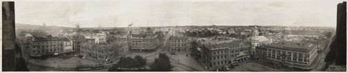 R.P. Moore, Christchurch NZ 1923. No.1 (view of Christchurch city from the cathedral tower), 1923