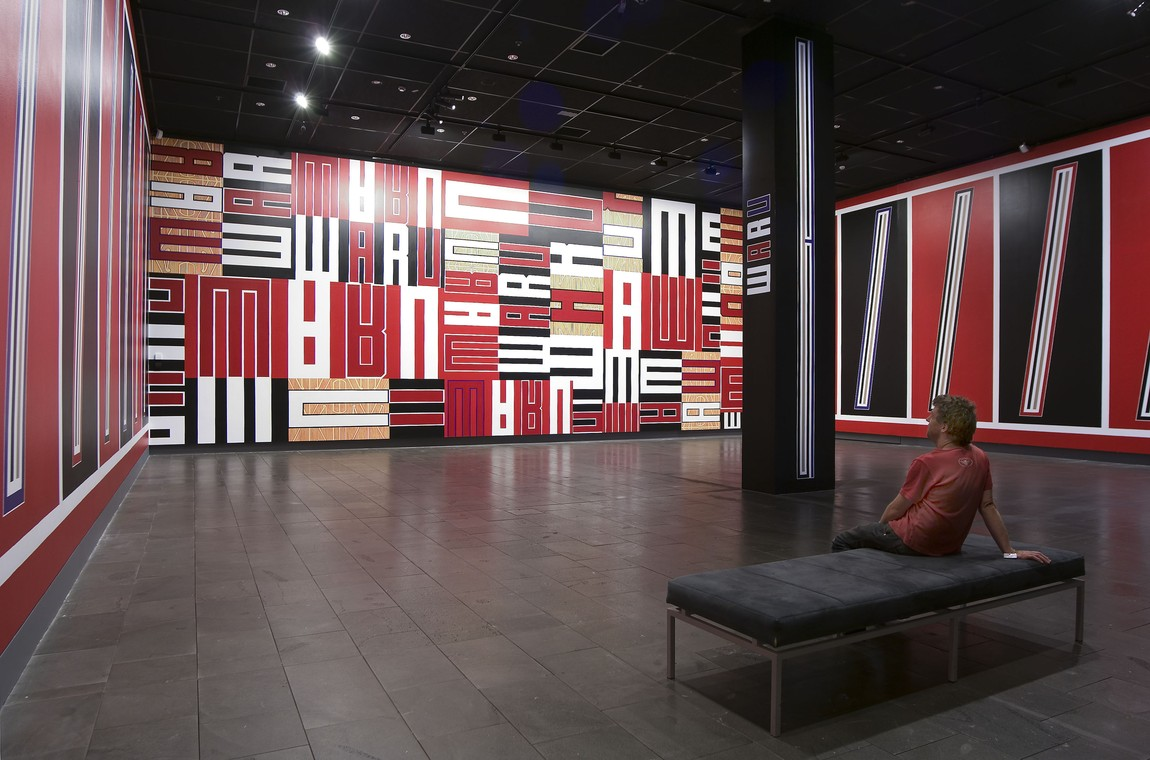 Installation view of Darryn George: Pulse in 2008