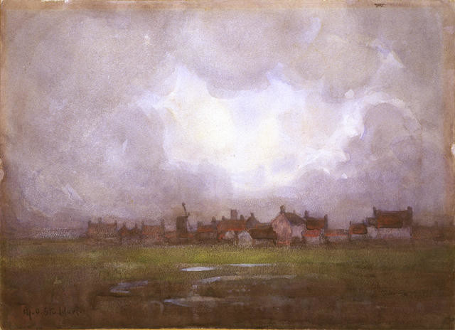 Storm Clouds, Blythburgh, Suffolk [also known as Suffolk Village]
