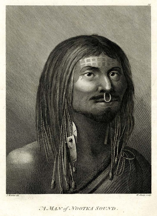 William Sharp, after John Webber A Man of Nootka Sound 1784. Engraving. British Museum