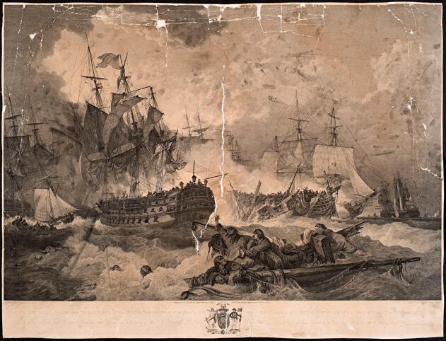 The Victory Obtained Over The Dutch Fleet By The British Squadron Of The North Sea Under The Command Of Admiral Duncan
