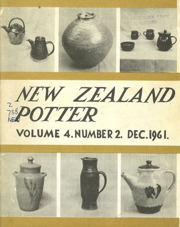 New Zealand Potter volume 4 number 2, December 1961