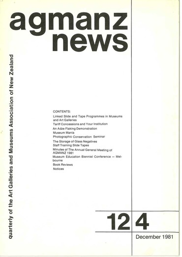 AGMANZ News Volume 12 Number 4 December 1981