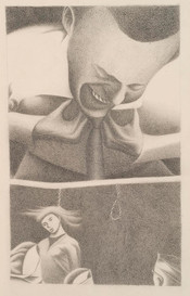 Illustration to a poem by John Dickson 'Stumble Bum talks of his health'