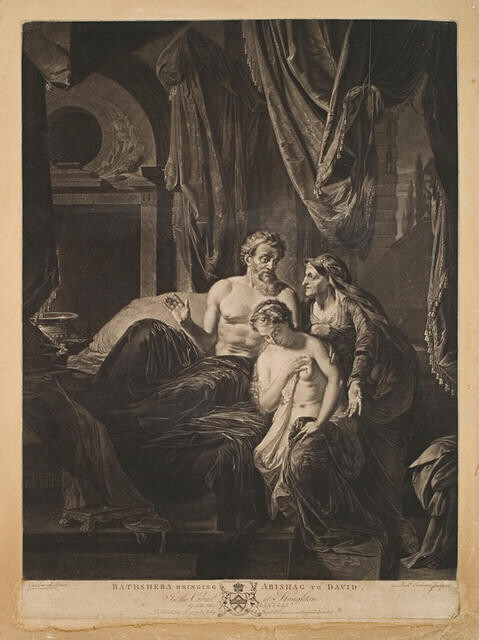 Bathsheba Bringing Abishag to David (In The Cabinet At Houghton)