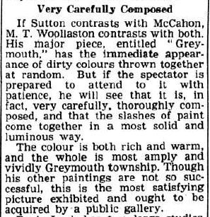 R.N. O'Reilly, 'Controversy Theme for Group Show', Christchurch Star-Sun, 29 October 1952, p.2.