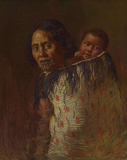 Maori Mother And Child