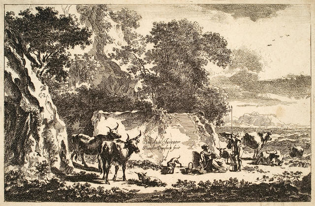 Man And Woman With Cattle (Landscape With Cows, Sheep And Peasants)