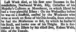Universal Spectator and Weekly Journal (London, England), Saturday, February 7, 1741