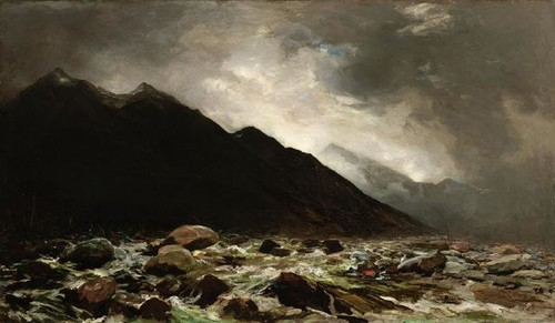 Petrus van der Velden, Mount Rolleston and the Otira Gorge (1893) oil on canvas. Collection Christchurch Art Gallery Te Puna o Waiwhetū, purchased 1965.