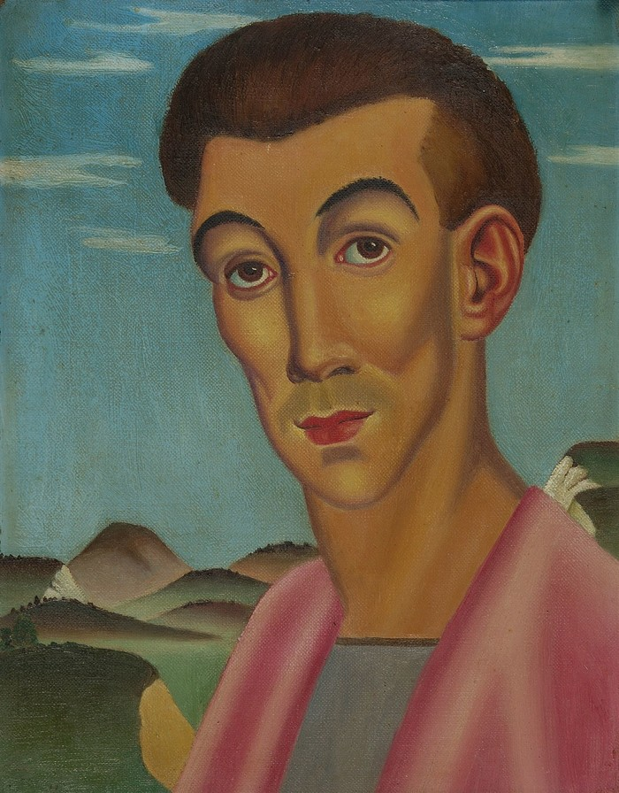 Leo Bensemann St Francis circa 1937. Oil on canvas board. Collection of Christchurch Art Gallery Te Puna o Waiwhetū. Lawrence Baigent / Robert Erwin bequest, 2003. Reproduced with permission
