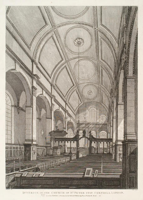 Interior Of The Church Of St. Peter Upon Cornhill, London