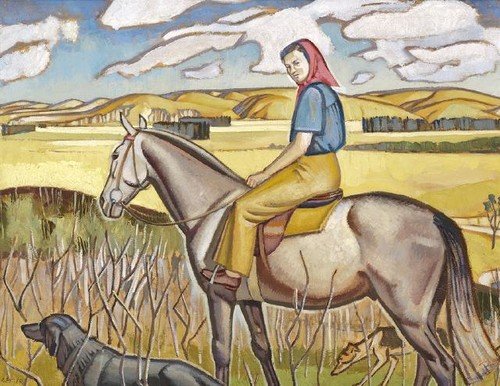 North Canterbury Pastoral Scene, 1943, Juliet Peter