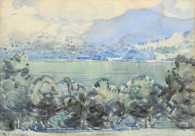 Untitled (View of Lyttelton from Godley House)