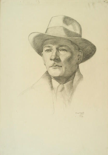 Portrait of an unknown man in hat