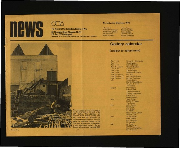Canterbury Society of Arts News, number 49, May 1973