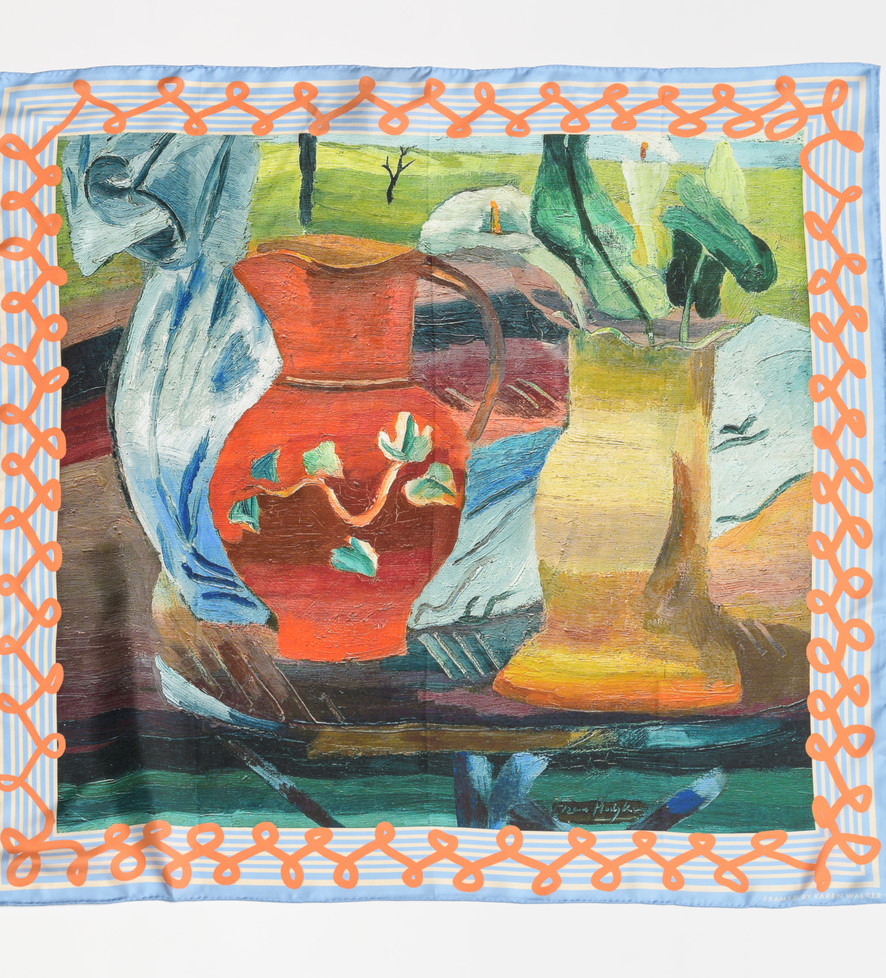 Silk Scarf:  Red jug