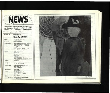 Canterbury Society of Arts News, number 108, March/April/May [1983]