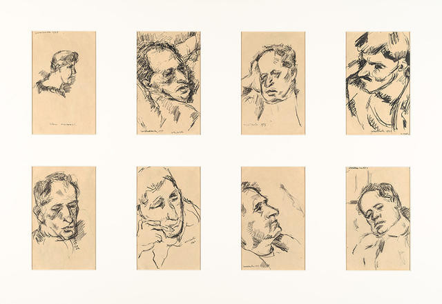 Eight Portrait Sketches