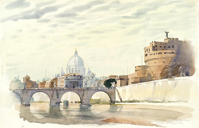 St Peters and Castel di S. Angelo, Rome 29 December 1973